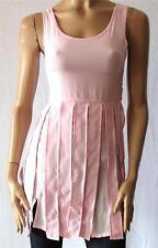 ninie Designer Pink Sleeveless Fringe Dress Size S BNWT [SM07]