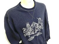 Ben Sherman - Retro 90's Jumper - Size M - Navy - Large Woven Graphic