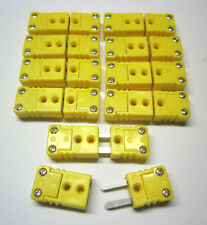 Miniature Mini K Type Thermocouple Wire Cable Connector Plug 10 Sets Pairs M F