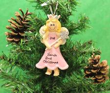 Personalizado De Árbol De Navidad Decoración Ornamento Rosa Princesa Rubia