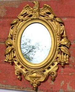 1860s Civil War Era Cast Iron Patriotic Framed Mirror