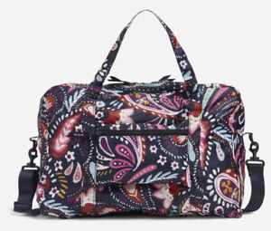 Nwts New Vera Bradley Packable Travel Bag Painted Paisley $79
