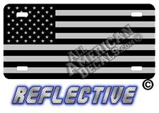 TACTICAL FLAG Decal Auto Tag Tactical US flag License Plate + 2 free decals {FF}