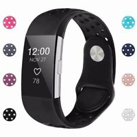 For Fitbit Charge 2 Wristband Replacement Buckle Silicone Strap Watch Bands S  L