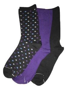 Silver Toe by Gold Toe 3 Pair Women's Fashion Crew Socks 1 Polka, Dot 2 Solid