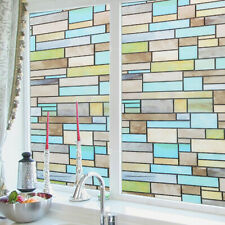 2mx0.45m Brick Static Cling Cover Frosted Window Glass Film Sticker Decor US