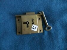 2 Lever Antique Cabinet,Brass Lock & Key