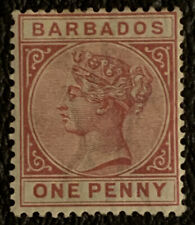 G6/95 British Colonies BARBADOS Stamp 61a MHOG Great Mint Clean Coll