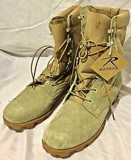 Rothco Desert Tan Leather Speedlace Panama Sole Jungle Boots in the box, size 10
