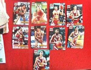9X ADELAIDE 36ERS BASKETBALL CARDS CLIPSAL
