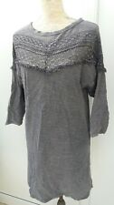H&M Ladies Size XS 6 8 Grey Zip Back Ethnic Style Tunic Dress Spring Fashion