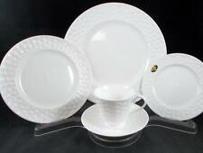 Aynsley BELLEEK BASKETWEAVE 5 Piece Place Setting Bone China MINT CONDITION