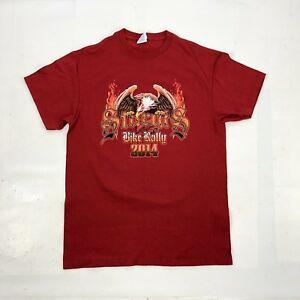 STURGIS 2014 Bike Rally Mens S Small Red 100% Cotton Double Sided