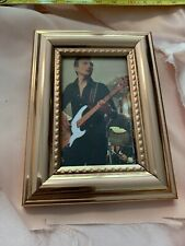 Queen Small Framed Picture Famed John Deacon Bass Guitar Rock Group 4 Fans Love