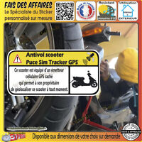 Sticker Autocollant antivol scooter tracker gps alarme protection sim decal