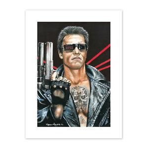 Wayne Maguire Tattooed Terminator Schwarzenegger Inked Ikon Canvas Art Print