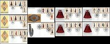 More details for greece 1972 1973 1974 folk costumes clothing fashion fdc all pics in description