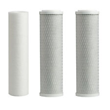 "10"" R.O. Filter Set 1 Sediment 2 Carbon Block RO Filters 10'' Housing Combo"