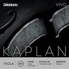 D'Addario Kaplan Vivo Viola String Set, Long Scale, Medium Tension