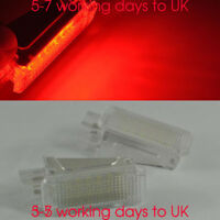 2x Red module units canbus Footwell foot lights LED SMD For VW AUDI SKODA Seat