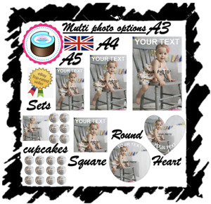 YOUR OWN EDIBLE PHOTO cake topper, personalised image, Quality ICING OR WAFER