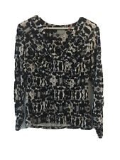 Ghost London Grey Leopard Print Evening Top Size 18