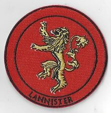 """3 INCH  """"LANNISTER"""" GAME OF THRONES IRON ON PATCH  BUY 2 WE SEND THREE"""