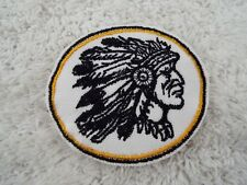 "Gold INDIAN CHIEF 3"" Embroidery Iron-on Custom Patch (E6)"