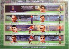 RUSSIA RUSSLAND 2016 Klb 2374-80 2018 FIFA World Cup Football Soccer Legends MNH