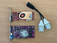 TWO PCI VIDEO CARDS - PNY GeForce FX5200 128MB & VISIONTEK ATI X1300 DMS59 256MB