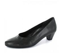 Gabor Women's Black Nappa H.T. Court Shoe's Size UK 6 EU 39 NH08 14