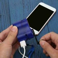 Emergency Power USB Hand Crank SOS Phone Charger Camping Gear D2R2