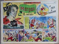 CARLO SAVI - STORIA COMPLETA (6 tavole originali) MORGAN IL CORSARO - 1948!