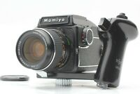 【NEAR MINT w/ Grip】 MAMIYA M645 55mm f2.8 lens Waist Level Finder From JAPAN