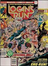 55 COMICS back to the 70s:  LOGAN's RUN #2-4, ok copies, JLA giants #140-141