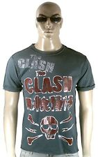 AMPLIFIED THE CLASH Strass Rock Star Skull Vintage Destroyed Löcher T-Shirt M 48