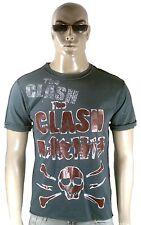 Amplified The Clash Estrás rock star Calavera Vintage Destroyed agujeros T 48