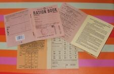 1944 Repro Ration Book authentic-style WW2 Home Front Food Meat Bread Butchers