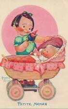 CARTE POSTALE ILLUSTRATEUR BEATRICE MALLET FANTAISIE ENFANT PETITE MAMAN