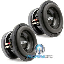 "(2) SUNDOWN AUDIO SD-2 8 D2 8"" SUBS DUAL 2 OHM SHALLOW BASS SUBWOOFERS NEW"