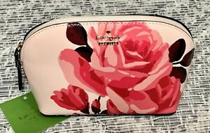 NWT Kate Spade Cameron Street Rose Small Dome Abalene Cosmetic Makeup Bag