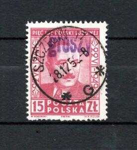 """PL Polen 1950 Mi.-Nr. 634 Aufdruck """"GROSZY"""" auf 531 gestempelt o"""