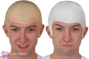 THICK BALD CAP SKIN HEAD HALLOWEEN FANCY DRESS COSTUME ACCESSORY MENS LADIES