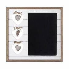 Square Wooden Hearts Design & Chalk Board Frame Notice Board