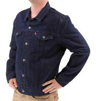 Levi's Men's Premium Cotton Button Up Denim Jeans Jacket Dark Blue 723350039