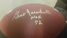 gino marchetti signed football autographed ball nfl hall of fame hof colts