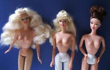 New 1990s Nude Lot 3 Barbie/Midge Classic Bodies w/ Earrings for Custom Projects