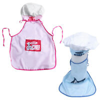 Childs Kids Chef Hat Apron Cooking Baking Boy Girl Chefs Junior Gift A1C1