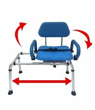 Carousel Sliding Transfer Bench with Swivel Seat