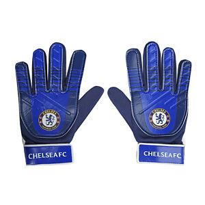 Chelsea FC Boys Gloves Goalie Goalkeeper Kids Youths OFFICIAL Football Gift